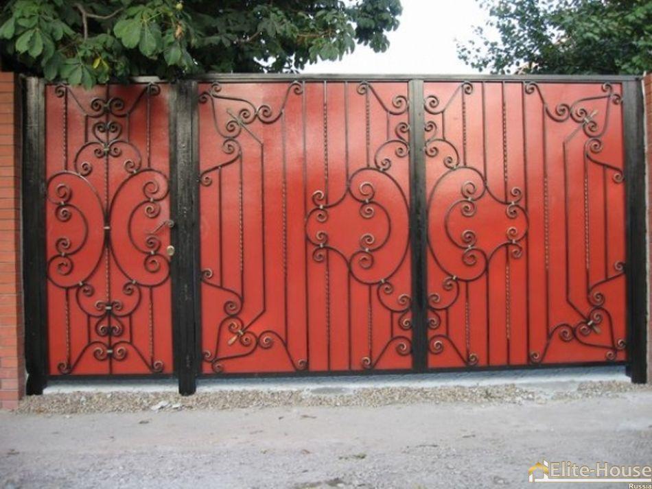 Ворота з фрткою маленькие ворота купить