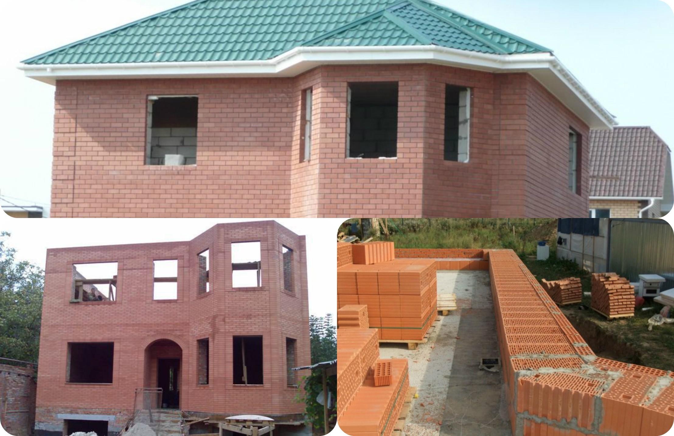 Как построить дом из кирпича от фундамента до крыши