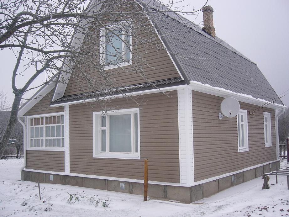 сайдинг отделка дом
